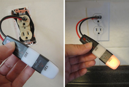 how to replace an outlet, Testing Power