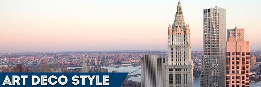 The Woolworth building Manhattan Art Deco style
