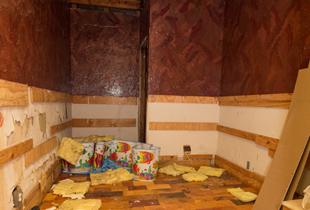 Empty bathroom before a stunning renovation