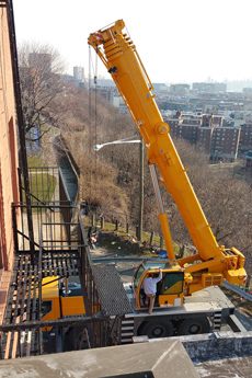 Dixon Projects had to lift the pool to the roof via crane