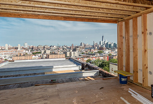 Framing out the penthouse