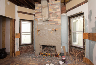 Before the transformation, some rooms were crumbling apart