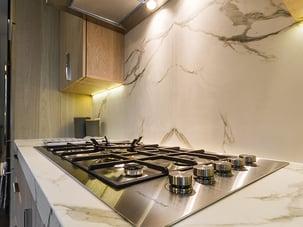 BedStuy Renovation Marble Kitchen Backsplash