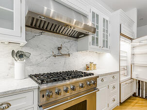 Park Slope Renovation Marble Backsplash