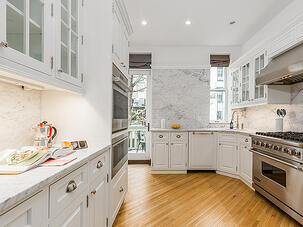 Park Slope Renovation Marble Kitchen Details