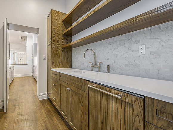 Harlem Renovated Wood Wet Bar