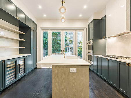 Downtown Jersey City Green Kitchen Renovation
