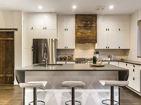 Brooklyn Renovated Kitchen with Wood Cabinets