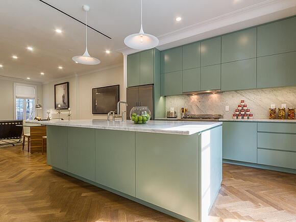 Fort Greene Renovated Green Kitchen