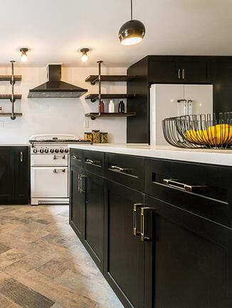 Williamsburg Renovation Industrial Kitchen Island Storage