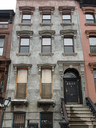 Brooklyn Brownstone Facade Before 2