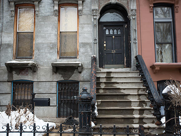 Brooklyn Brownstone Facade Before