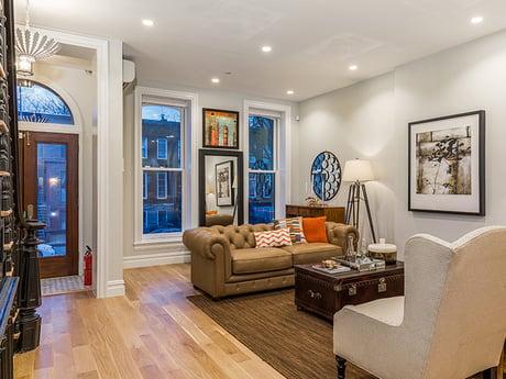 Brooklyn Brownstone Living Room After