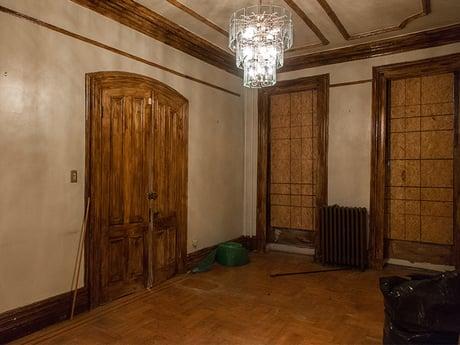 Brooklyn Brownstone Living Room Before