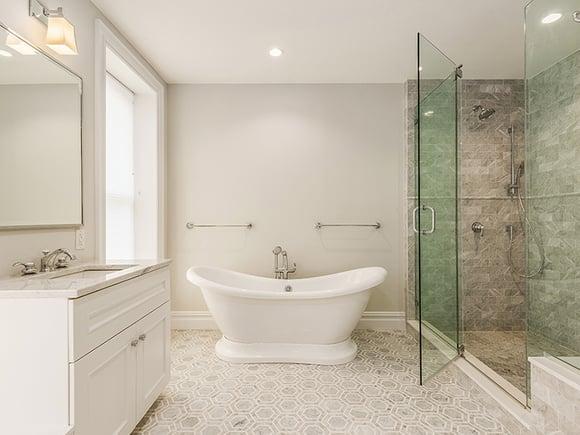 Brooklyn Brownstone Renovation Master Bath