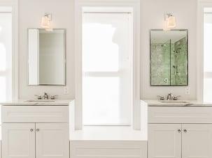 Brooklyn Brownstone Renovation Master Bathroom Dual Vanity