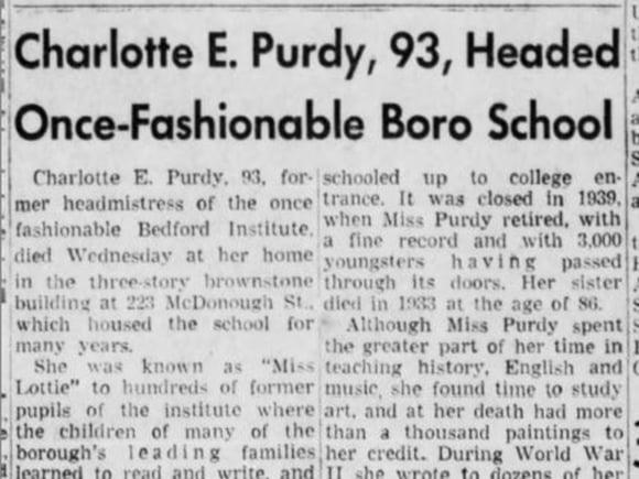 Charlotte E. Purdy Obituary