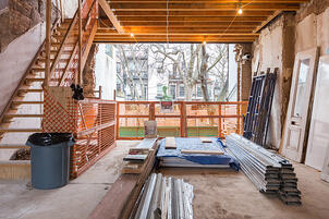 Boerum Hill Townhouse Renovation Backyard During Construction