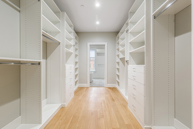 Boerum Hill Townhouse Renovation Master Bedroom Walk-in Closet