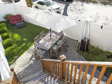 Turf backyard