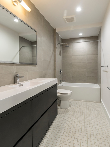 modern bathroom after