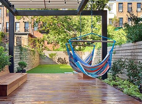 beautiful small backyard hammock
