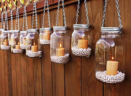 hanging mason jars ideas
