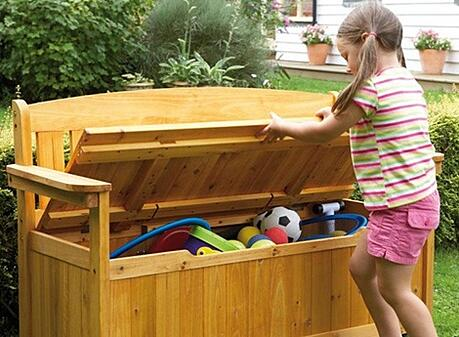 outdoors storage bench
