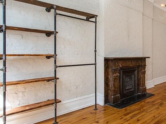 511 Monroe Living Room Shelves