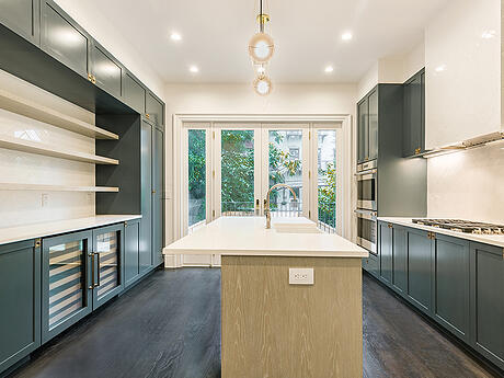 Kitchen cabinets head on