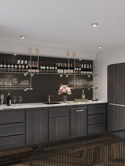Hudson Square wet bar rendering
