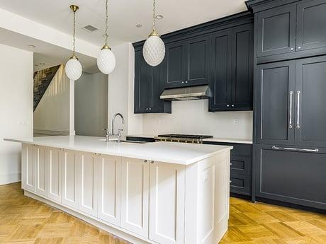 Darkblue cabinets