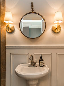 Powder room old meets new