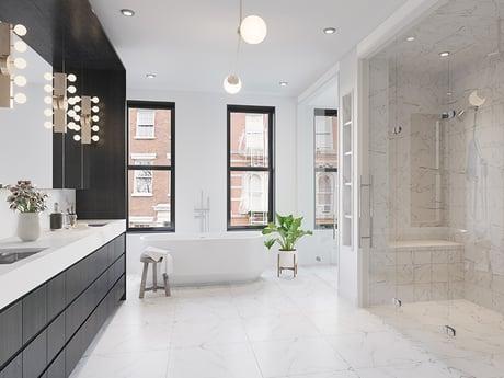 Hudson Square bathroom renderings