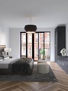 Hudson Square bedroom rendering