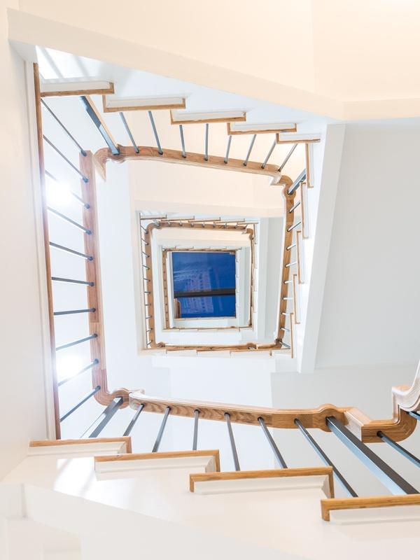 bainbridge staircase looking up