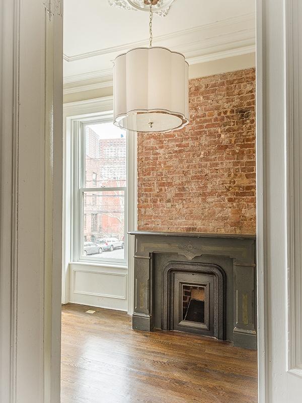 restored fireplace