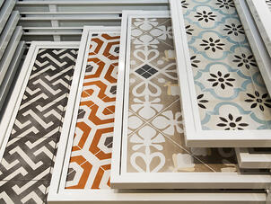 Colorful tile patterns