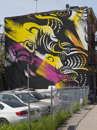 Jersey City Mural  titled Triple Crown