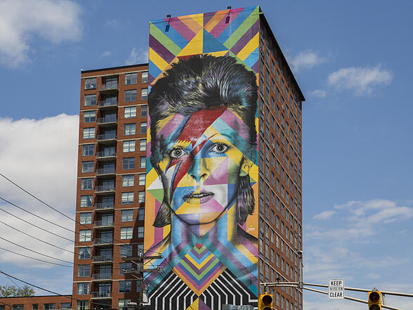 David Bowie Mural in Jersey City