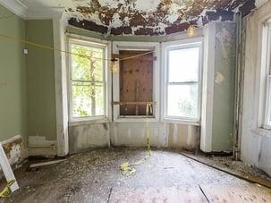 Decrepit bay windows