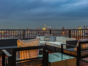 staged roof deck