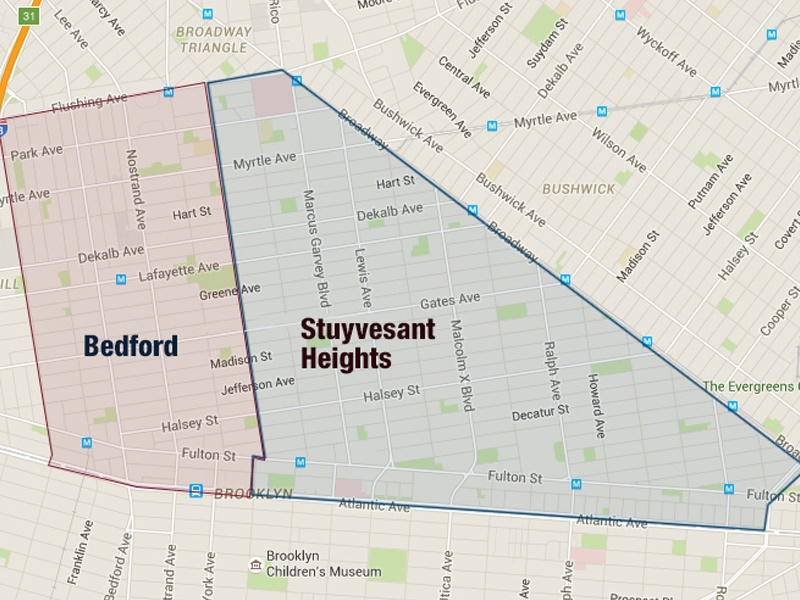Map of Bed-Stuy