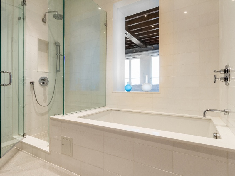 master bath with window