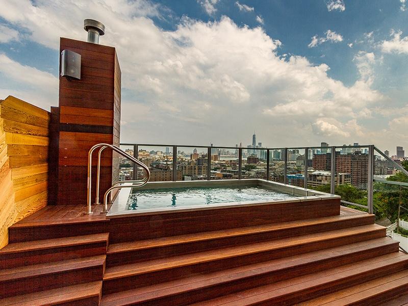 Roof deck pool