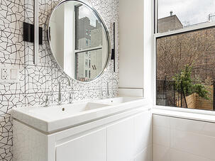 170 South 4th Street Crackled Bathroom Tile