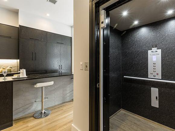 250 West 139th Street Tiled Elevator