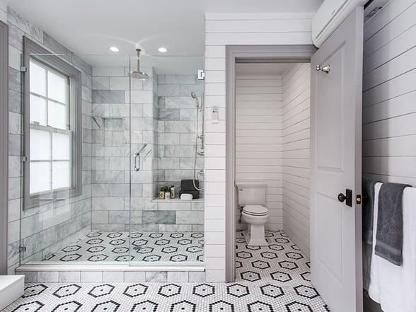 398 State Street Master Bath Tile Wide Shot