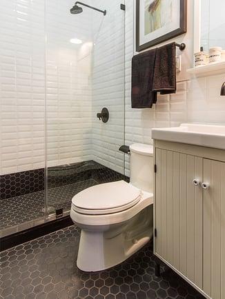 91 Berry Street Hexagonal Tile in Bathroom