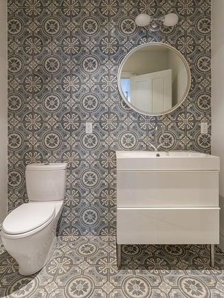 98th 6th Ave Floor to Ceiling Bathroom Tile